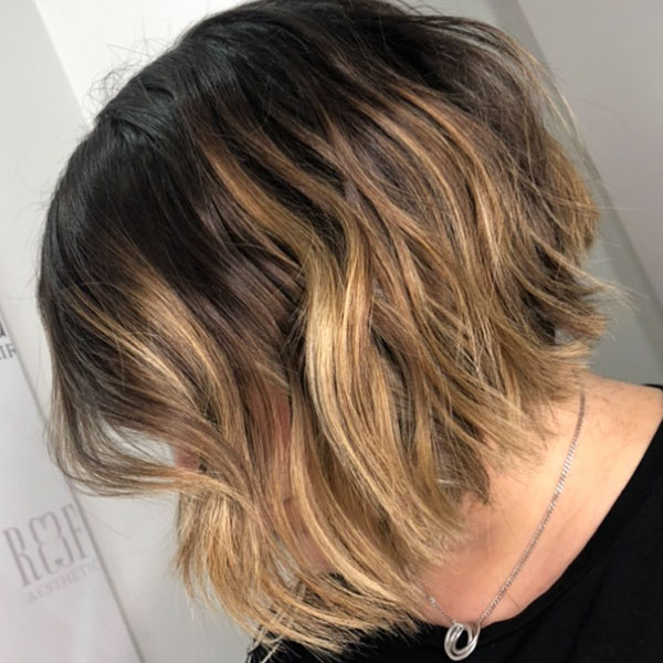 Medium Stacked Bob Styles