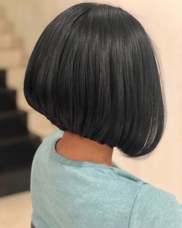 Medium Stacked Bob Cuts